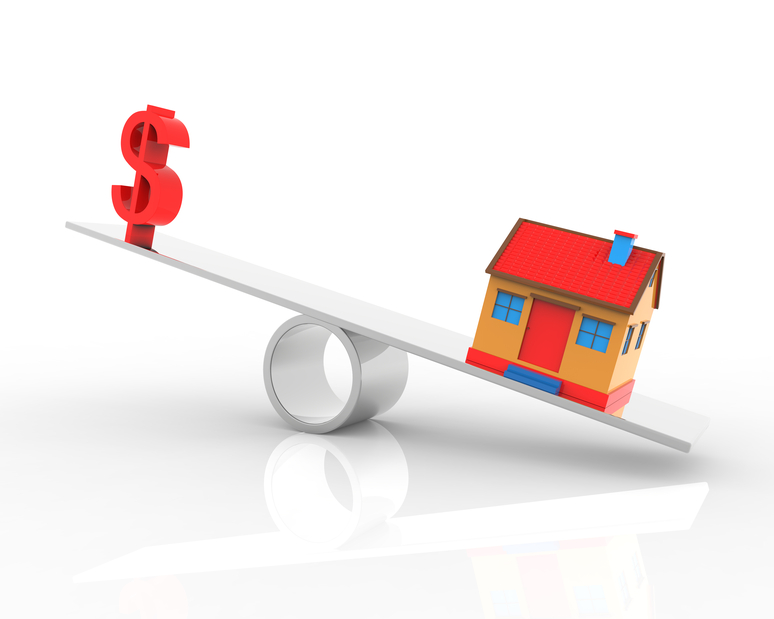 Real estate dollar and house balance
